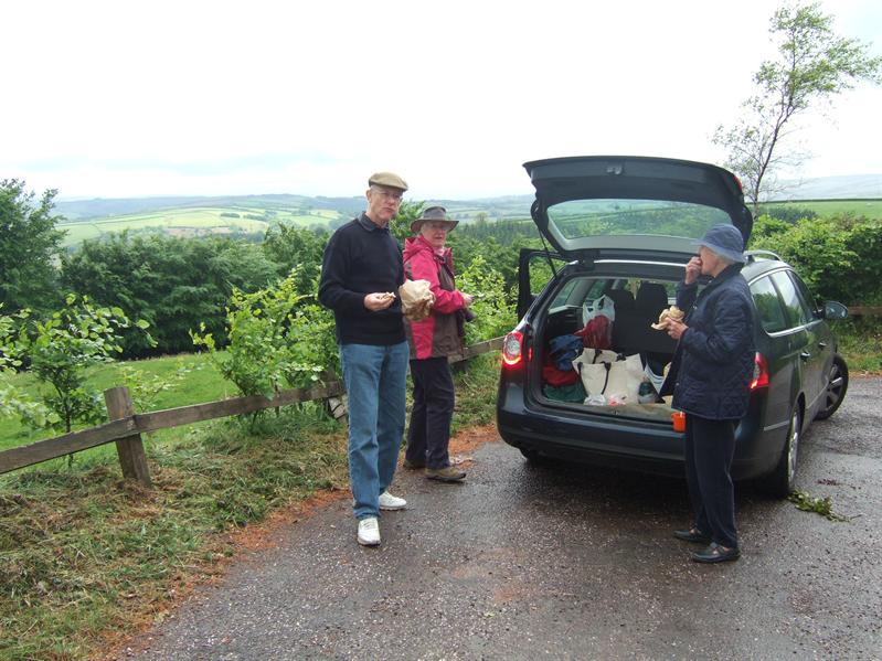 Break for Exmoor Pasties between Dunster and Dunkery Hill