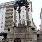Lots of public monuments on the streets of Vienna