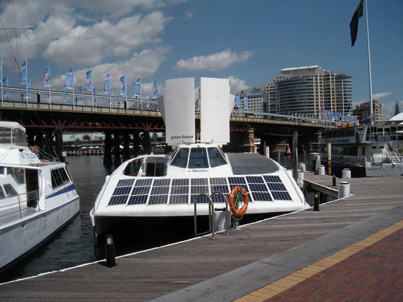 A solar powered boat