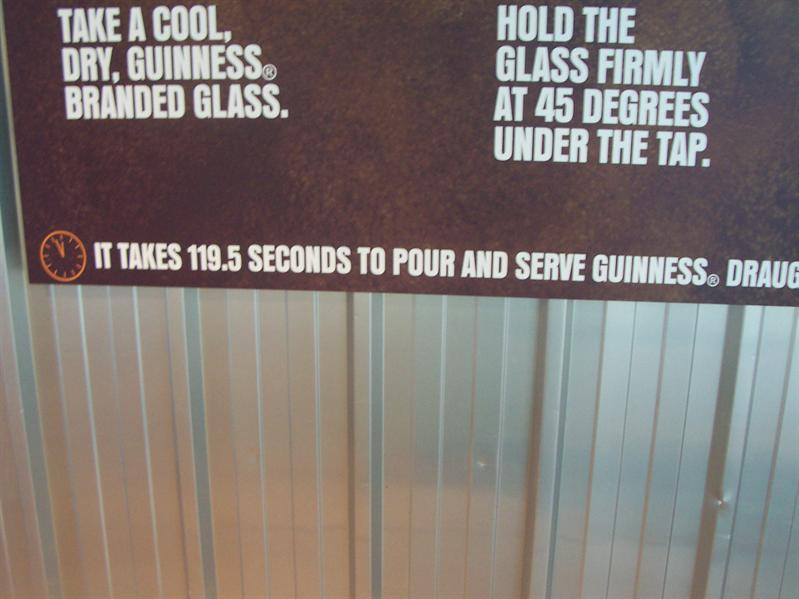 At the Guinness Storehouse.