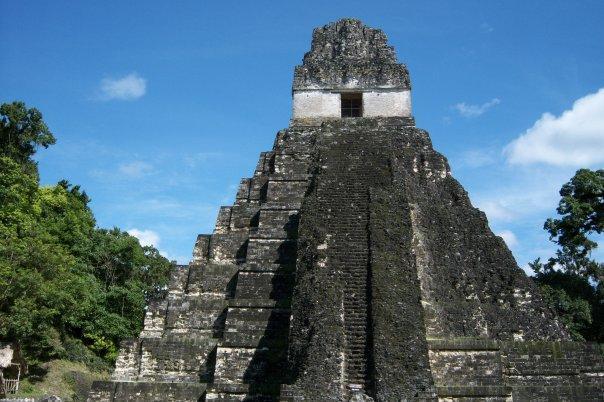 TIKAL, GUATEMALA - TEMPLE OF THE GIANT JAGUAR