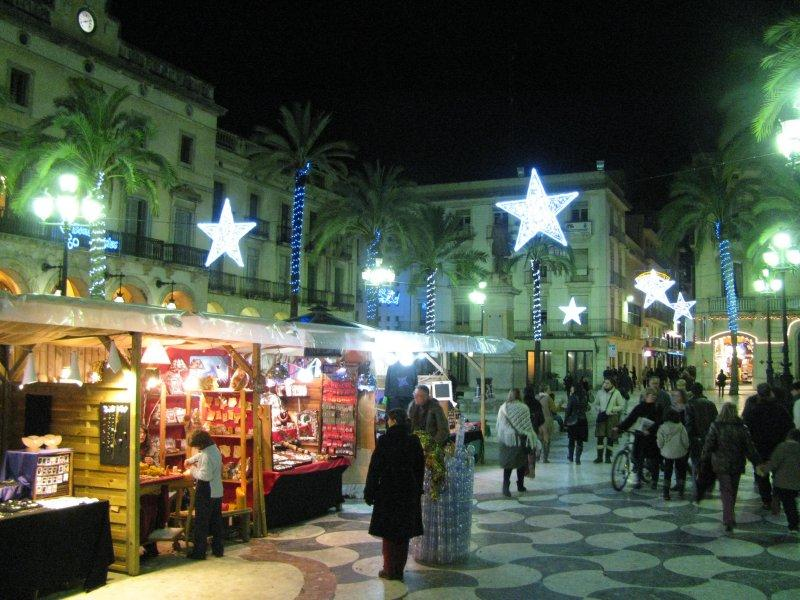 Christmas market in the town square.