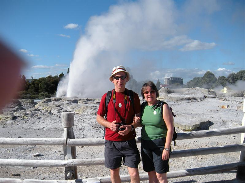 Pete and I infront of the geysers