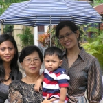 My mom, sister and nephew