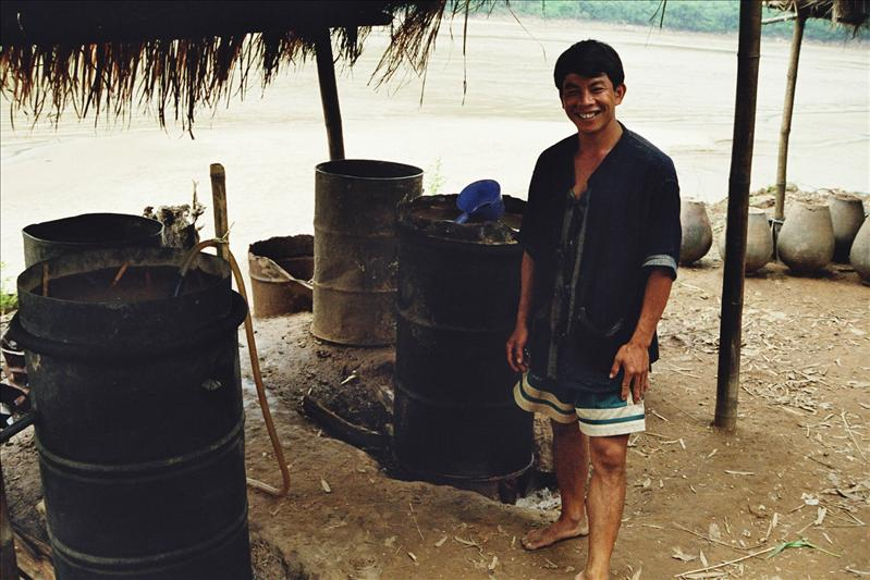 AND HERE THEY MAKE LAO LAO, THE LOCAL RICE ALKOHOL
