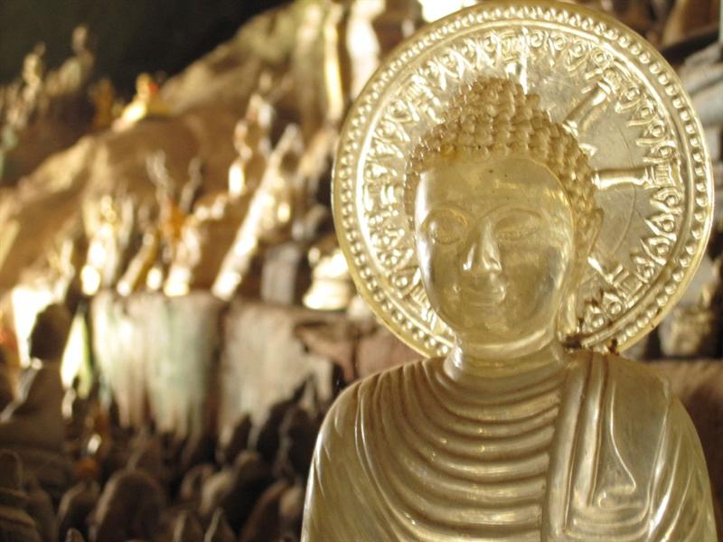 Inside the cave are over 4,000 statues of Buddha.