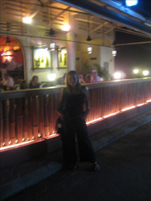 Me in front of the Red Piano bar