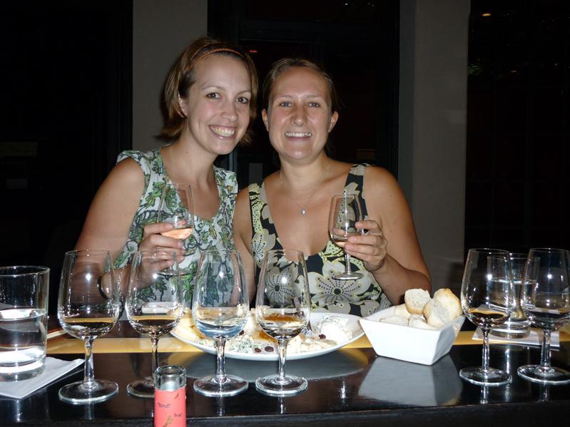 Taking our wine flight of regional wines...