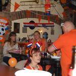 voetbalwedstrijd  Nederland Café De Bolle Geleen