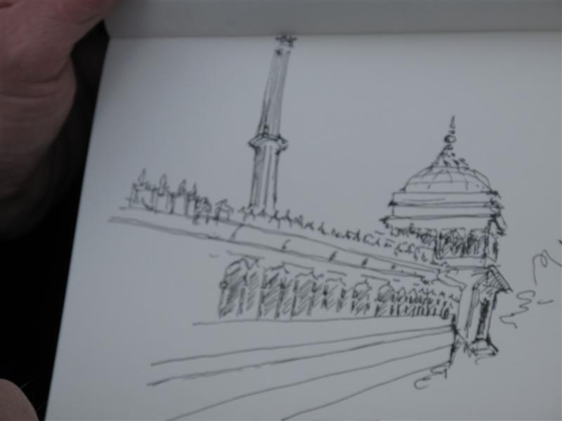 Hasse drawing of Jama Masjid