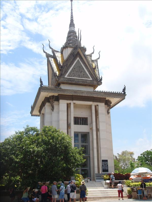 Monument at the Killing Fields