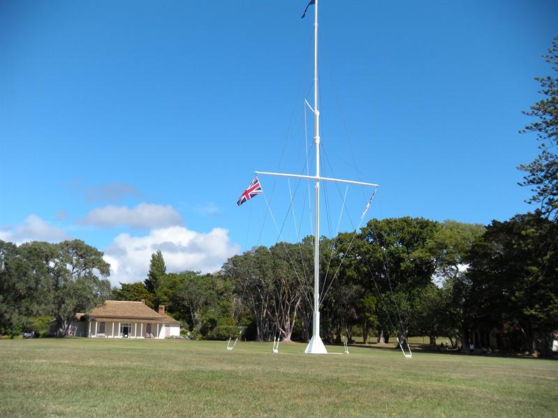 The flags at Waitangi