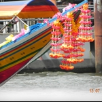 Long-tailed boat decoration