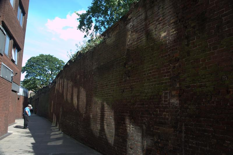 Wall of Marshalsea Prison, London, United Kingdom