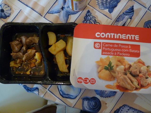 microwaveable classic pork meal. yumm!