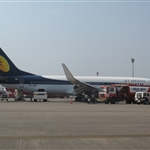 Jet Airways 737-800 aircraft (Mumbai - Goa flight)