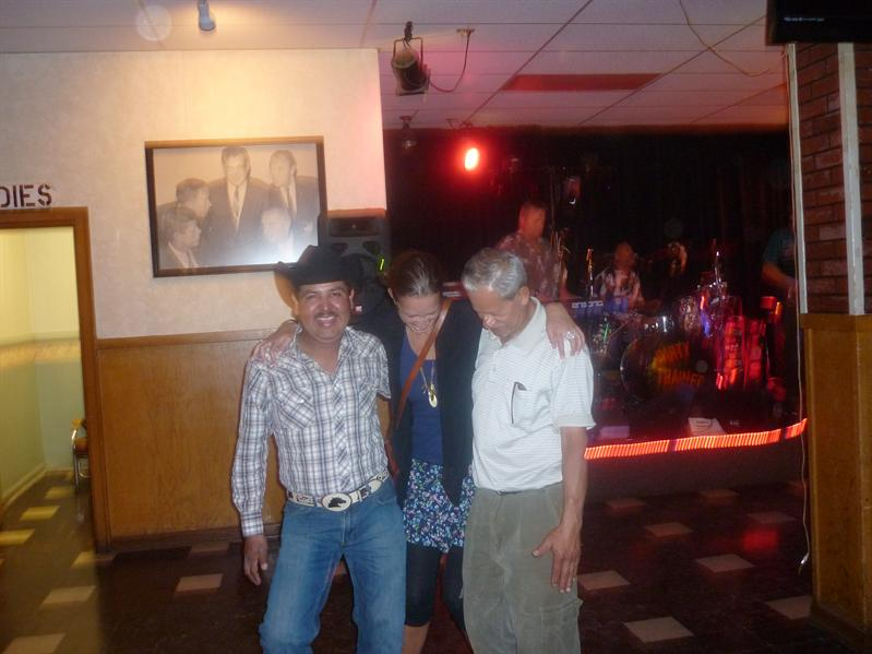 Dancing with old Mexican/Guatemalan dudes...