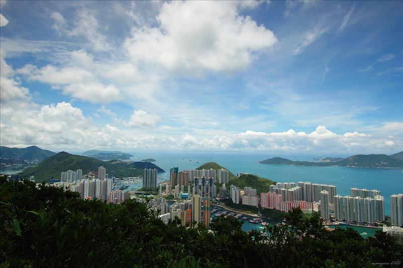 香港仔、鴨利洲及海洋公園一帶景色