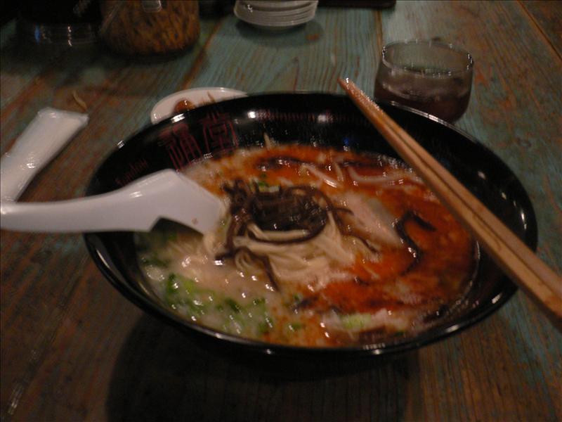 晚餐:Yui Rail小祿站Jusco旁著名的通堂拉麵, 讚啦!!