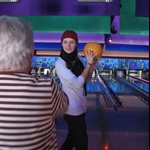 On the 26th my Grandma took us bowling!