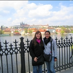 Britt and I with Prague Castle in the distance