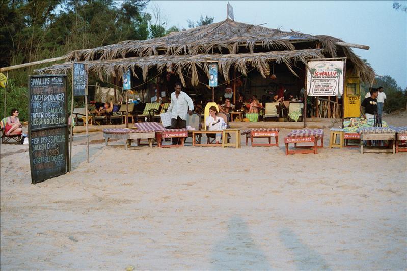 on the beach between calangute & baga