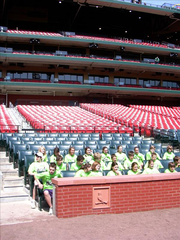 Queen of All Saints school graduates visiting new Busch Stadium