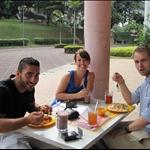 Frokost første dag på  main campus