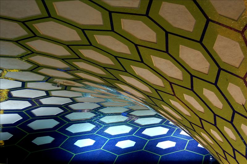Roof of the airport waiting area in Abu Dhabi
