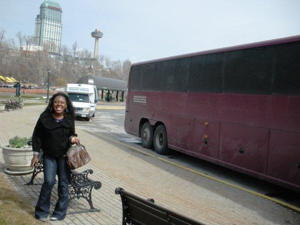 Maame and the motorcoach's body