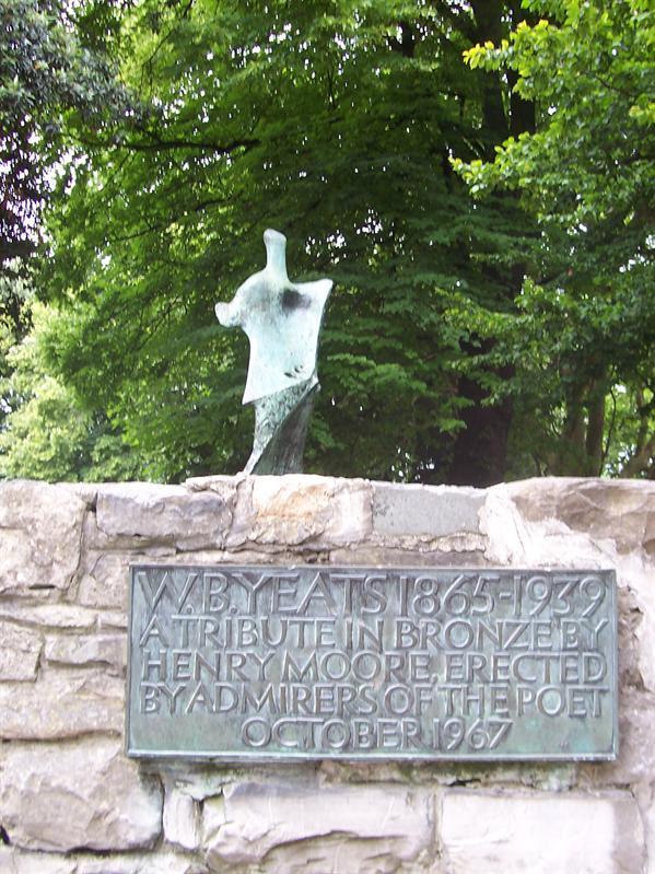 Statue in W.B. Yeats garden.
