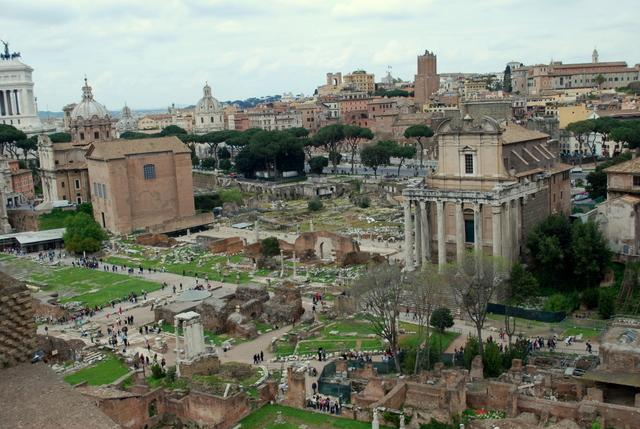 The view down into the Roman Forum
