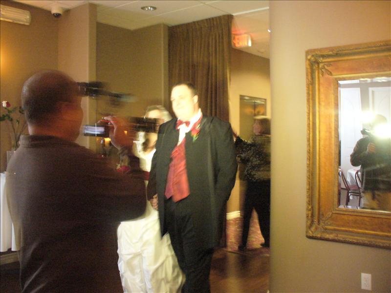 Entering reception