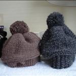 Knit hats like mushroom