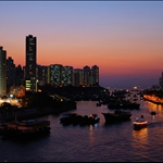 20070205 Sunset at Ap Lei Chau Bridge 鴨利洲橋日落