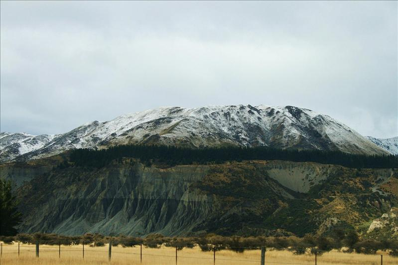 On the way to Mt Cook.