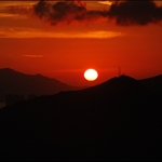 20090712 Red Sunset at Ma Kong Shan View Compass 孖崗落日紅
