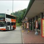青嶼幹線收費站(往東涌方向)旁巴士站集合起步Lantau Link Toll Plaza