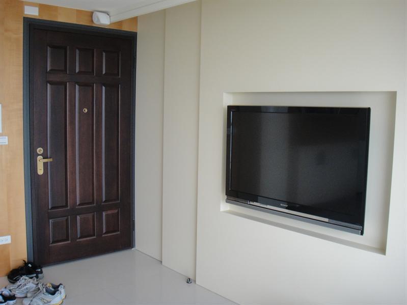 門口與電視