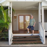 john at the front of our marcoola house that we stayed in for 8 nights