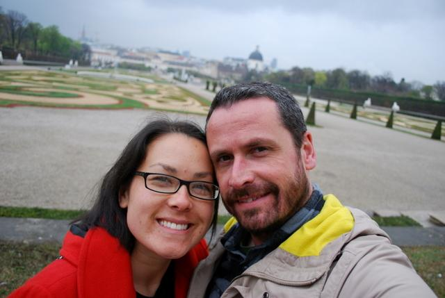 In the gardens of the Belvedere Palace
