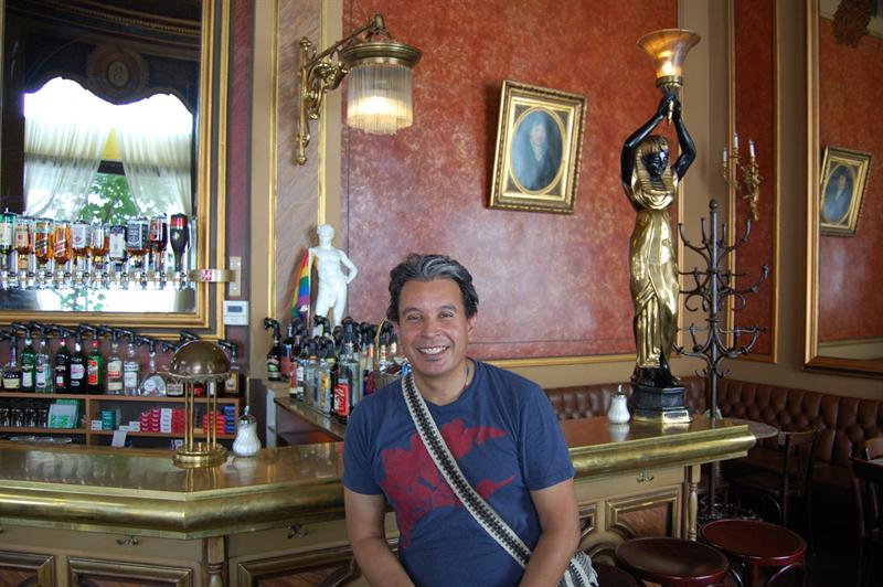 Andrew at Cafe Savoy - Vienna