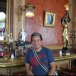 Andrew at Cafe Savoy - Vienna