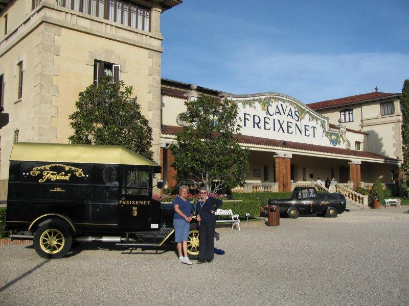 A visit to the Freixenet winery....