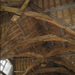 Wooden ceiling made with only wooden pegs