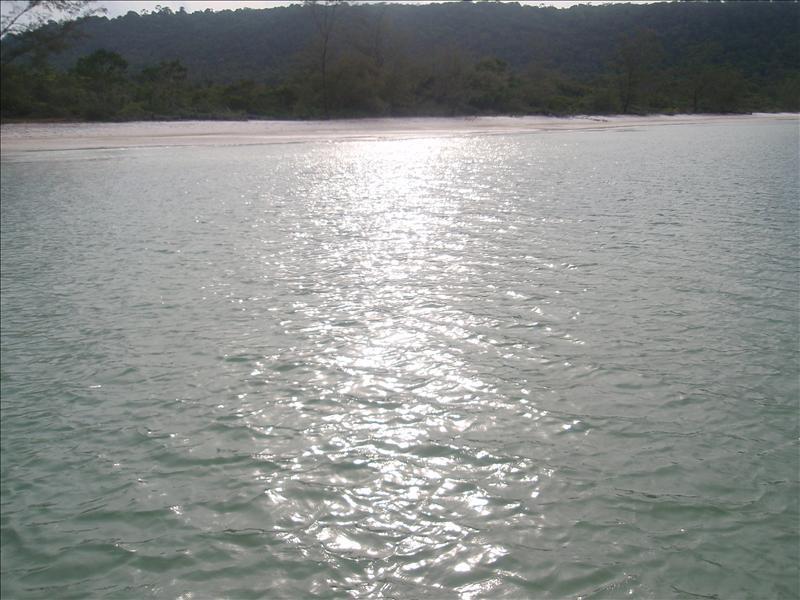 The eastern beach