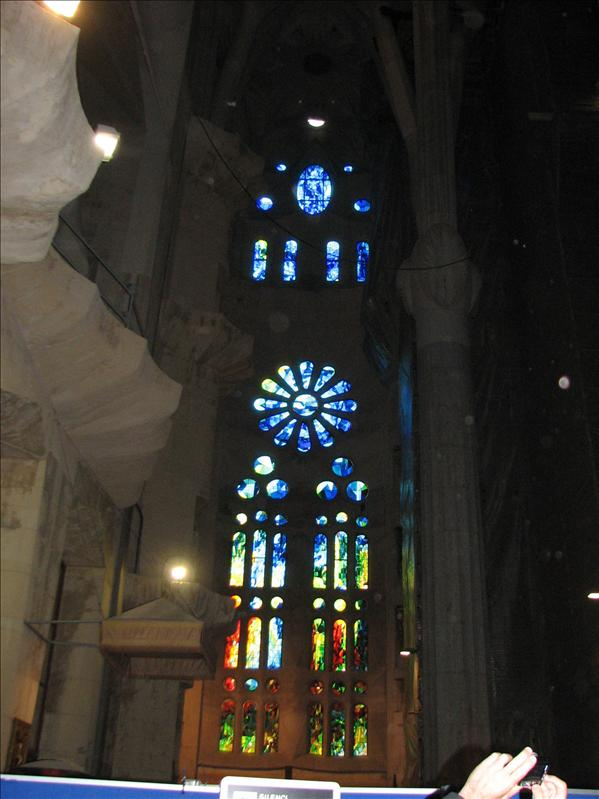 inside, stained glass windows