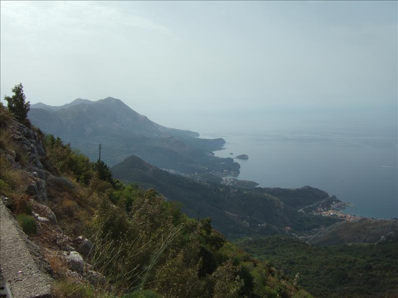 DAY 6 - View from the Road Above Budva