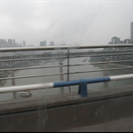 view from taxi in chongqing