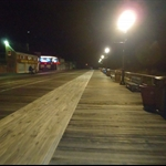 The boardwalk at night